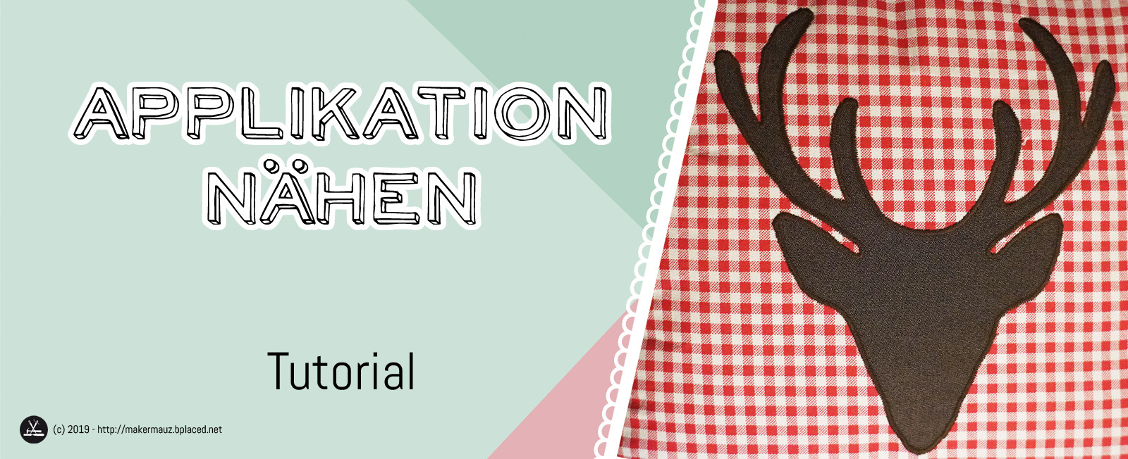 Applikation nähen Tutorial