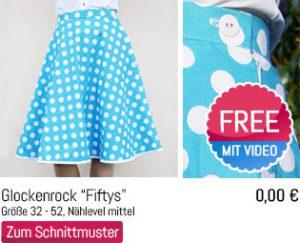 Schnittmuster Glockenrock Fiftys