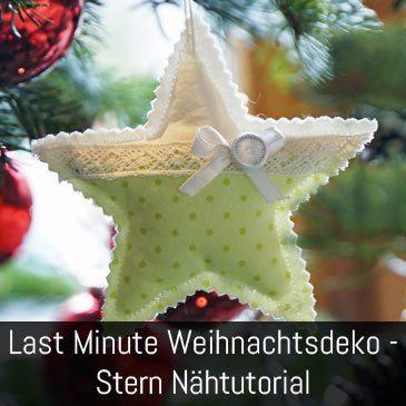 Weihnachtsdeko Stern – Nadelkissen Tutorial