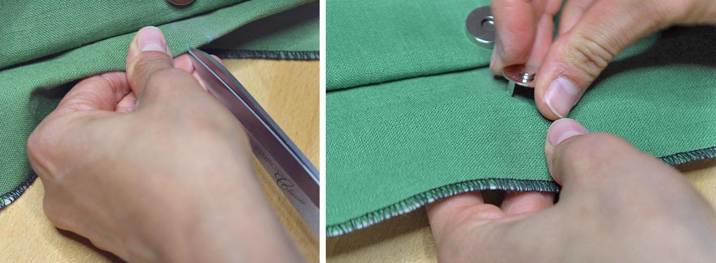 Taschen Verschluss anbringen