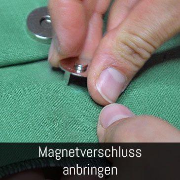 Magnetverschluss anbringen