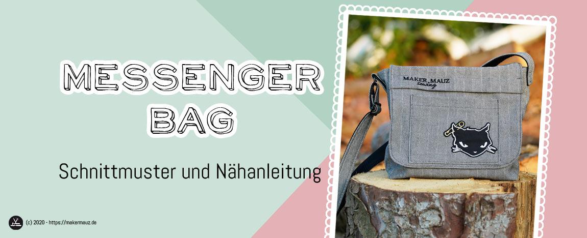 Messenger Bag Schnittmuster + Nähanleitung