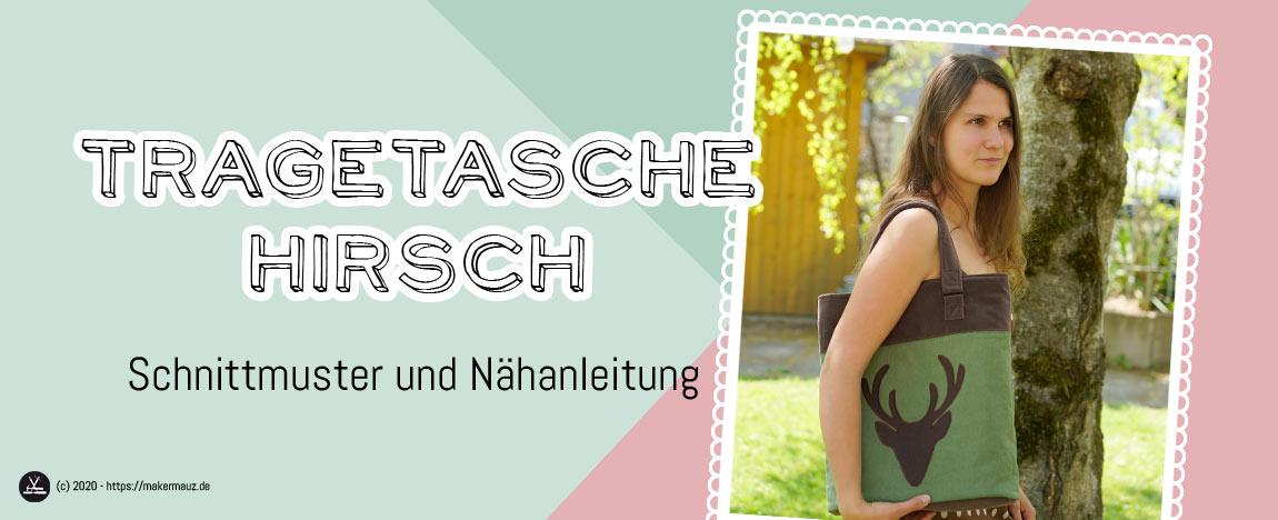 Shopper Hirsch Nähanleitung und Schnittmuster