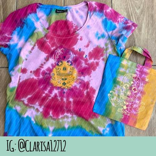 Batik T-Shirt mit Rockabilly Skull Plotterdatei