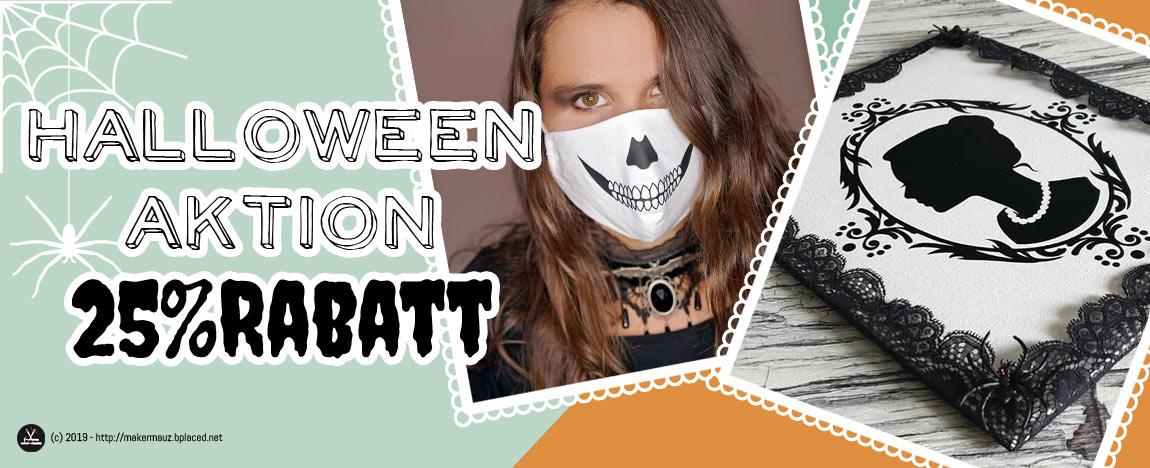 Halloween Sale - 25% Rabatt auf alle gruseligen Plottermotive!