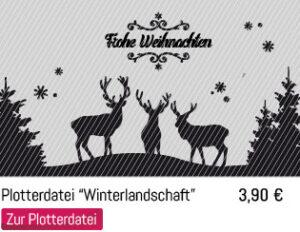 Hirsch Tannenbaum Frohe Weihnachten Schriftzug