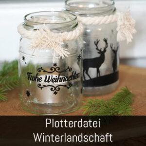 Winterlandschaft Weihnachten Plotterdatei