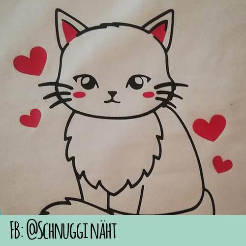 Plotterdatei Katze Meow 2 Farbig