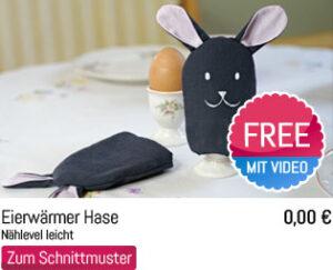 Oster Schnittmuster Freebie Eierwärmer Hase