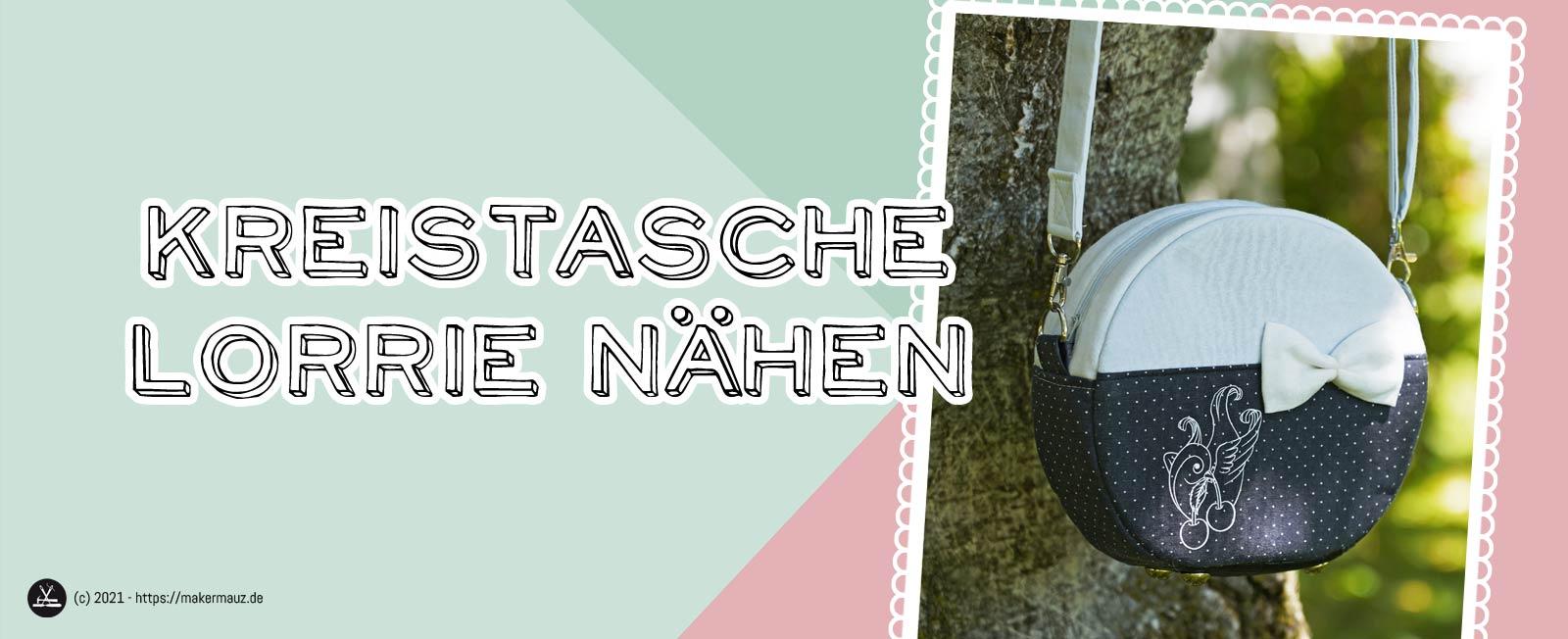 Kreistasche Lorrie Schnittmuster und Nähanleitung