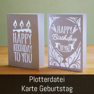 Plotterdatei Geburtstagskarte