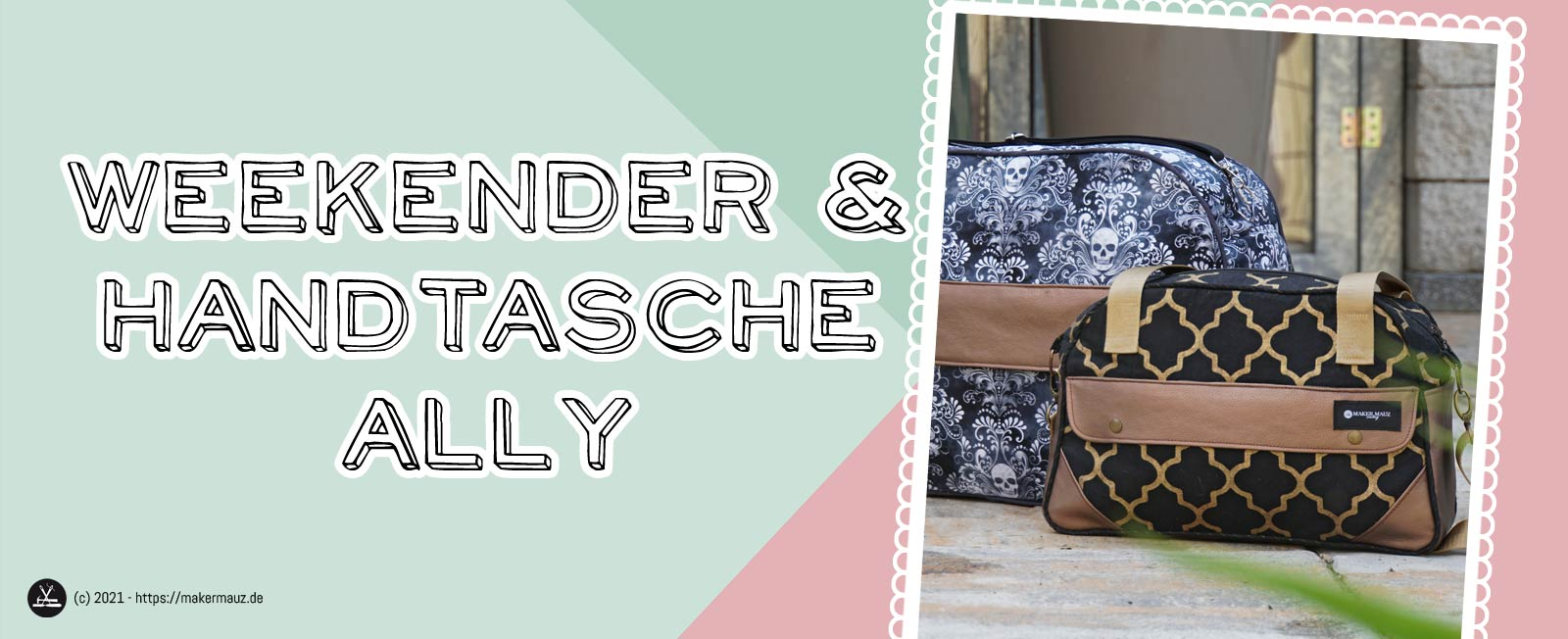 Weekender + Handtasche Ally Schnittmuster und Nähanleitung